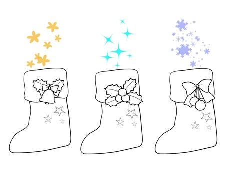 圣诞靴子绘图