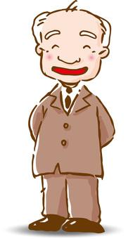 Businessman's boss