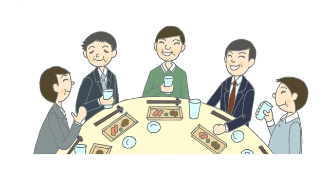 Dinner party 8 (Middle male)
