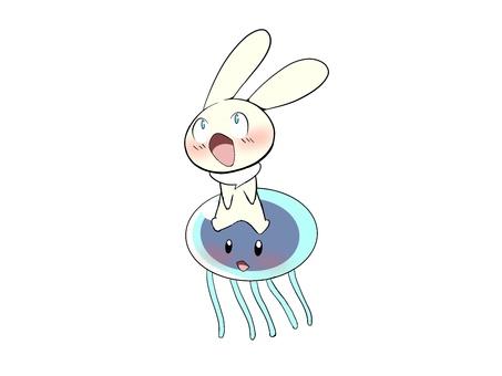 Jellyfish and rabbit