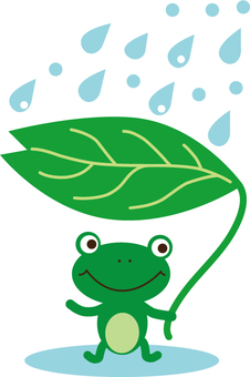 Frog to rain shelter