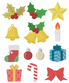 Christmas accessories illustration