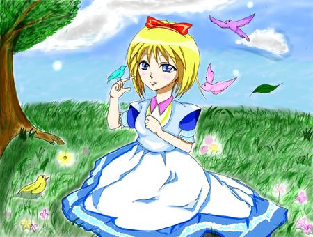 A girl in a fairy tale