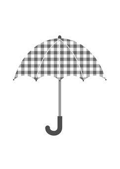 Black checkered umbrella
