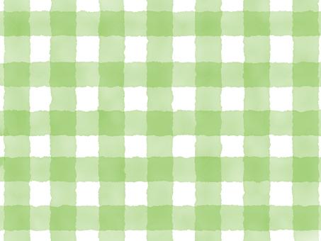 水彩チェック(太)緑
