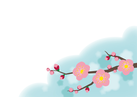 Message card 【04】 plum blossoms