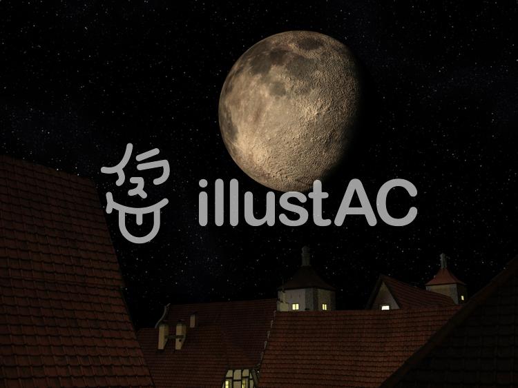 魔法国の月のイラスト