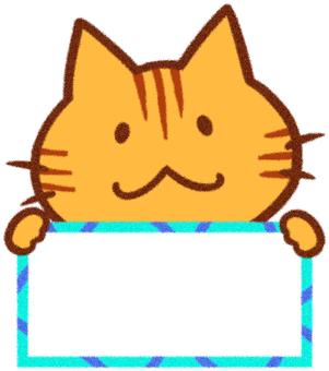 갈색 고양이 프레임