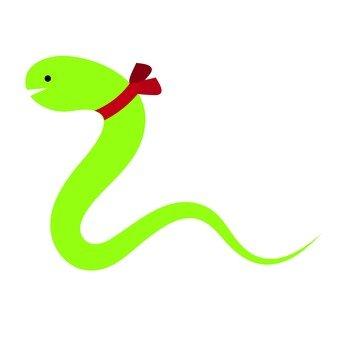 Ribbon snake (green)