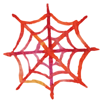 Watercolor spider web