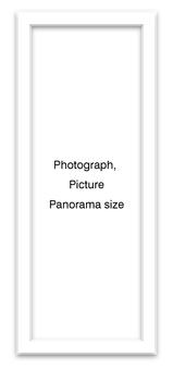 Panoramic frame white vertical