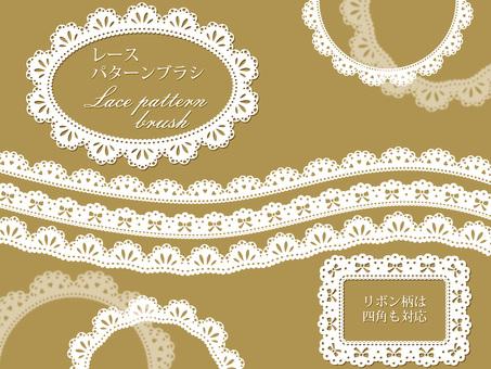 Lace pattern brush set