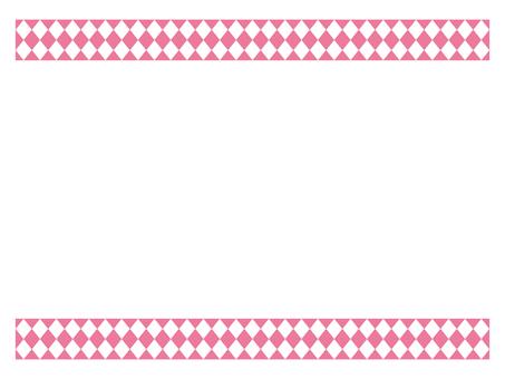菱形粉紅色模式框架
