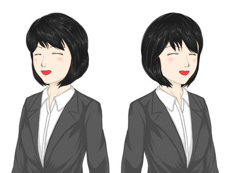 20's female suit smile