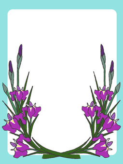 Japanese style iris frame