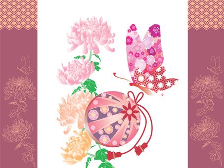 Mari and chrysanthemum _ red
