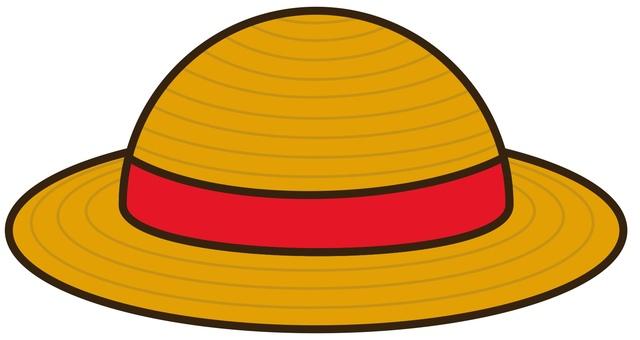 麦わら帽子 赤