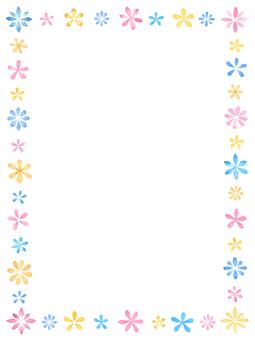 Watercolor Flower frame B 3