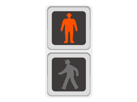 Signal machine pedestrian red