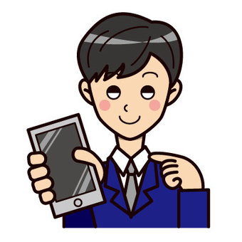 A man holding a smartphone