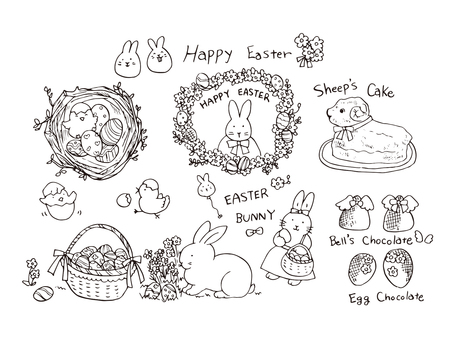 Easter (line drawing)