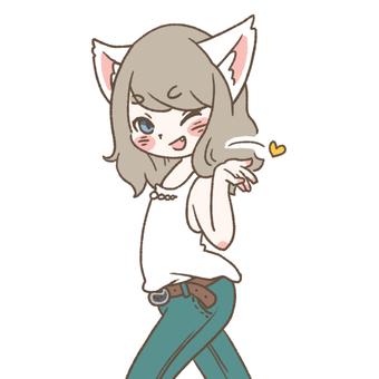 Cat ears girl