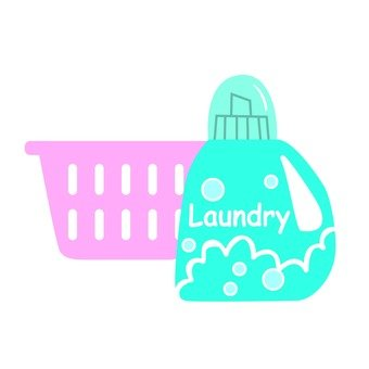 Laundry basket and detergent