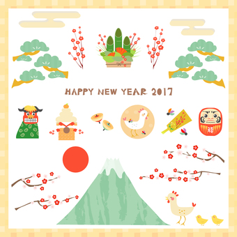 2017 New Year's greeting material of roots year
