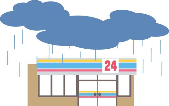 Convenience store (rain)