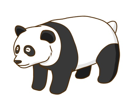 Panda is cute.