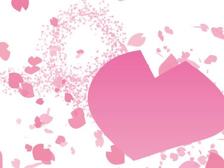 Spring cherry blossom petal love letter
