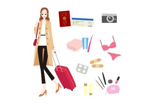 Fashionable women - travel