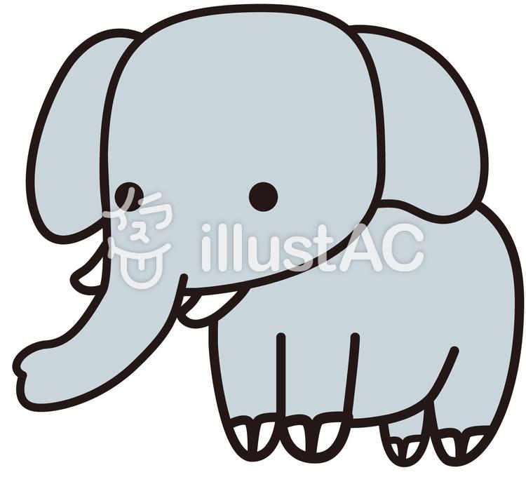 象(ぞう)エレファントのイラスト