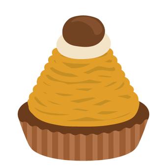 컵 케이크 (몽블랑)