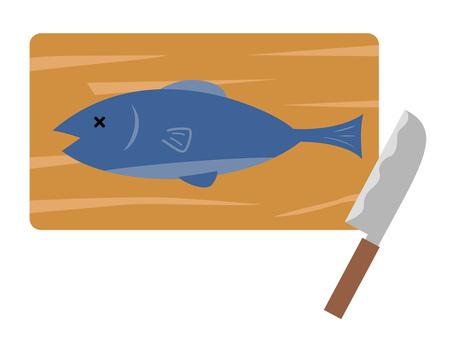 まな板の上の魚と包丁
