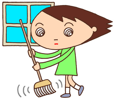Elementary school character character · Cleaning