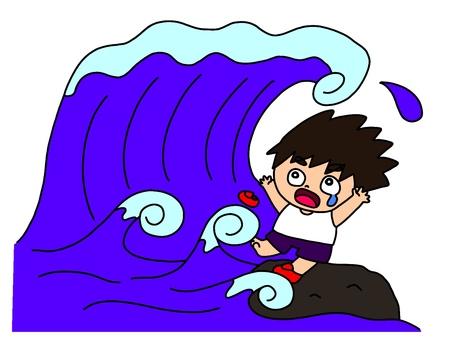 A big wave!