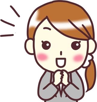 [여성 정장] 정면 _ 즐거운 2