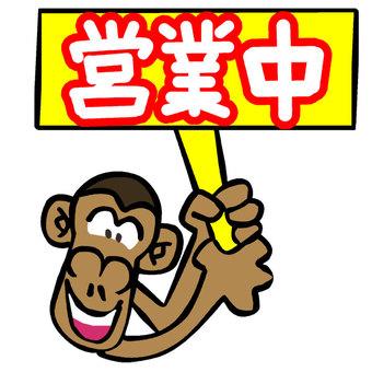 Monkey in operation