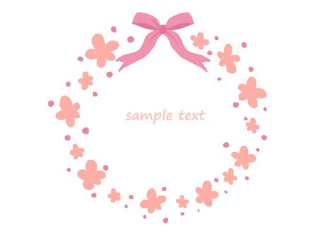 Flower and ribbon frame 2
