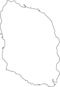 Izu Oshima _ line drawing