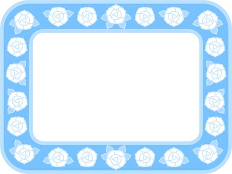 Pastel color rose frame (blue)