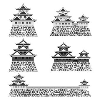 Japanese castle material set