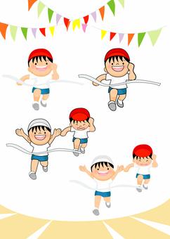 Athletic meet first prize running children