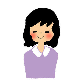 Girl smile with short hair