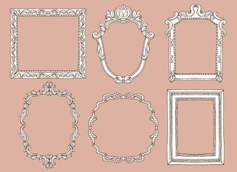 Hand-painted elegant frame