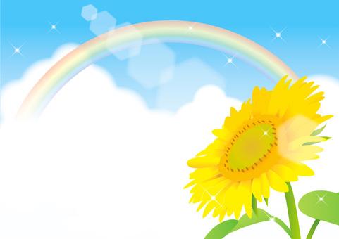Sunflower and summer sky frame 2