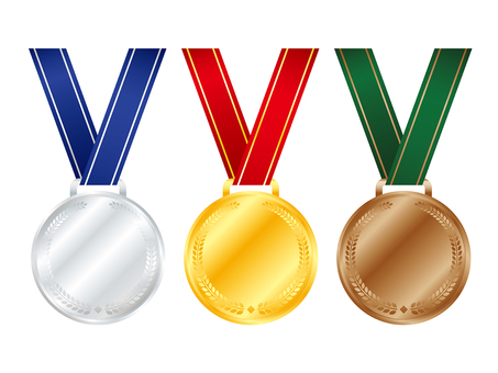 Gold and silver bronze medal set