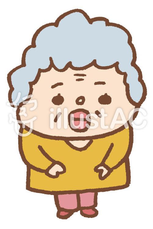 おばあさんシリーズのイラスト