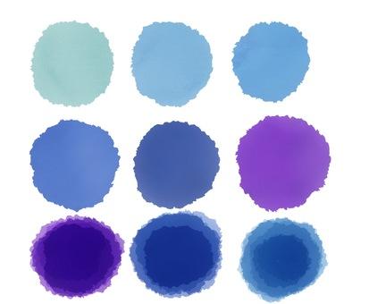 Blue and purple round pattern